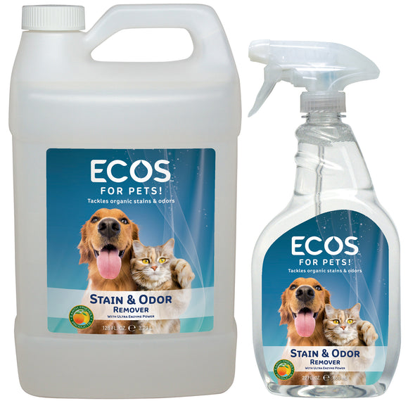 ECOS for Pets! Stain & Odor Combo 22 fl. oz.+ 128 fl. oz. Refill