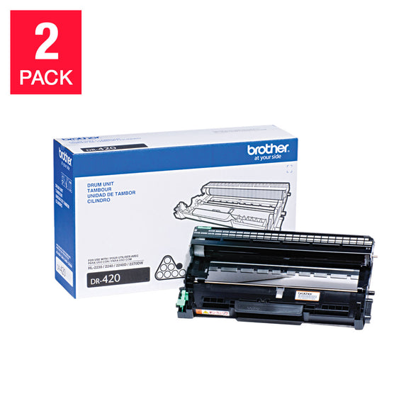 Brother DR-420 Drum Unit, 2-pack