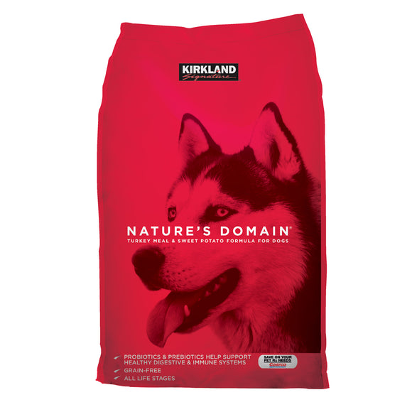 Kirkland Signature Nature's Domain Turkey Meal and Sweet Potato Dog Food 35 lb.