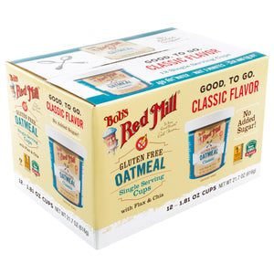 Bob's Red Mill Oatmeal Cups 1.81 oz., 12-count