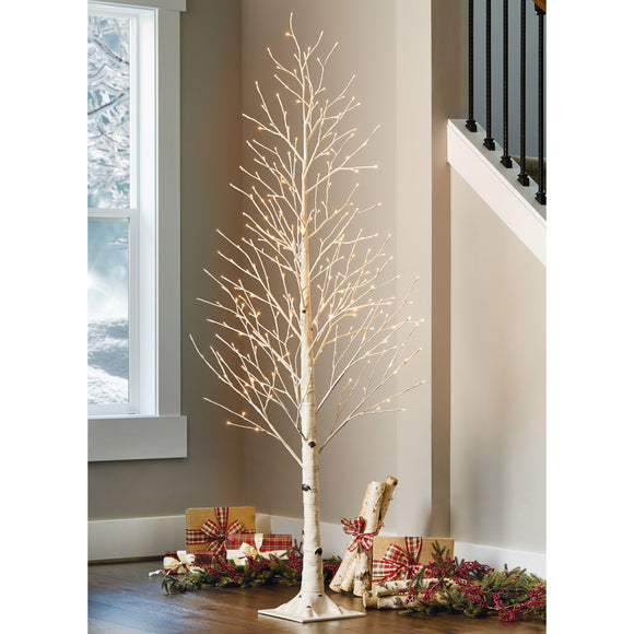 7' LED Birch Tree