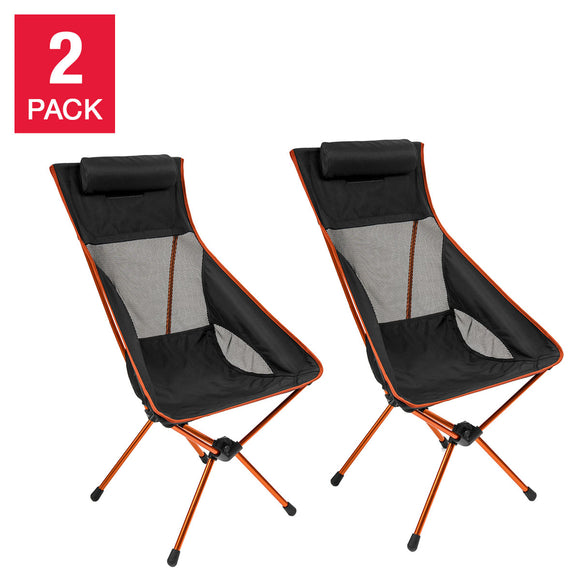 Cascade Mountain Tech Ultralight Highback Chair, 2-pack