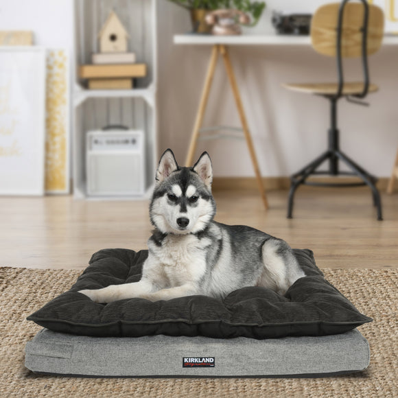 "Kirkland Signature 36"" x 40"" Pillow Top Orthopedic Dog Bed, Gray"