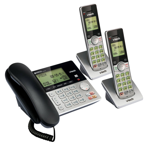 VTech CS6949-2 DECT 6.0 2 Handset Corded Cordless Phone System