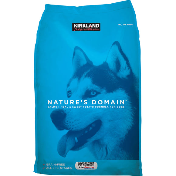 Kirkland Signature Nature's Domain Salmon Meal & Sweet Potato Dog Food 35 lb.