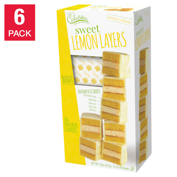 Sweet Lemon Layer Cakebites, 16 oz. 6-count