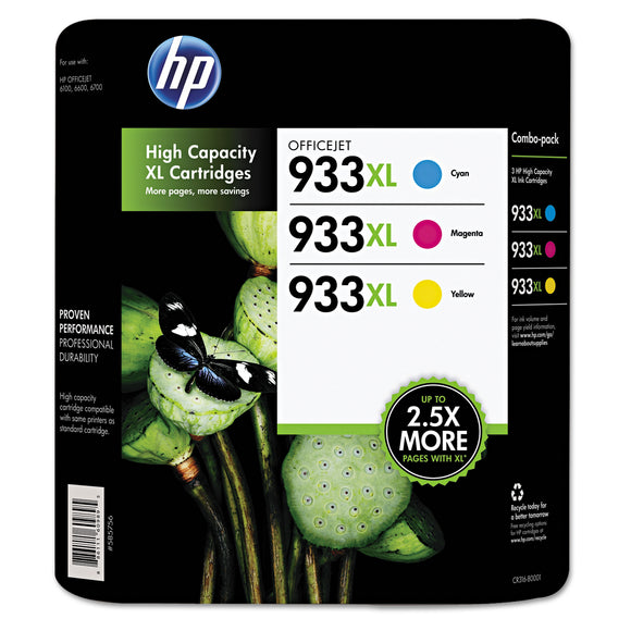 HP 933XL High Yield Ink Cartridge, Tri-Color Pack