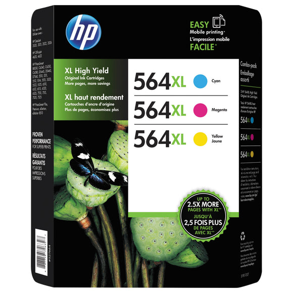 HP 564XL Ink Cartridge, Tri-Color Pack