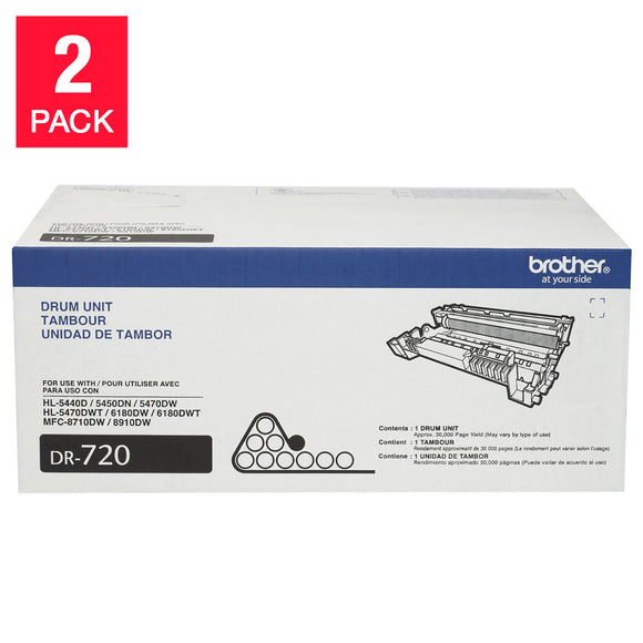 Brother DR-720 Drum Unit, 2-pack