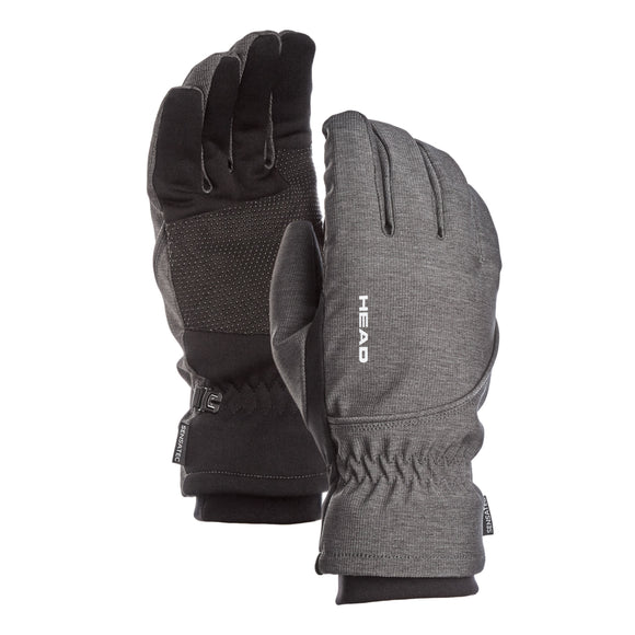 HEAD Men's Waterproof Hybrid Gloves, Gray