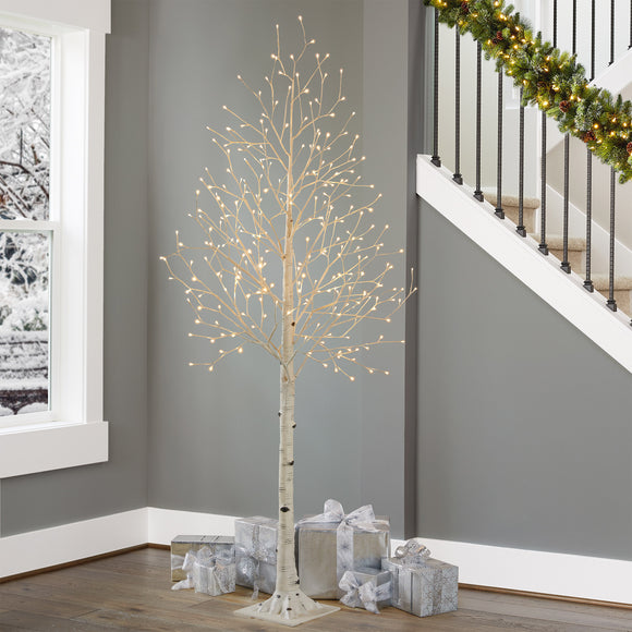 7' Faux Birch Tree