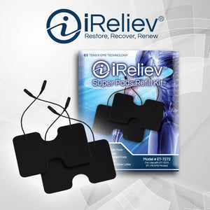 "iReliev Premium 3.5"" x 3.5"" EMS Replacement Pads"