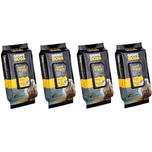 Grime Boss Heavy Duty Wipes 4-pack