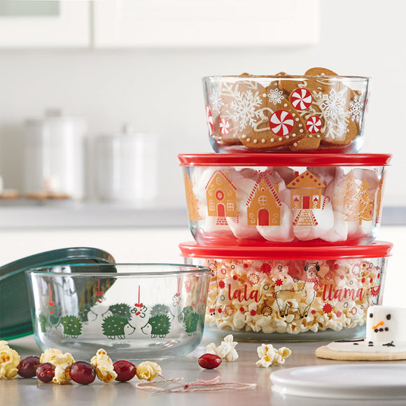 Pyrex 8-piece Holiday Decorated Food Storage Set