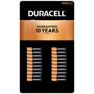 Duracell Coppertop Alkaline AAA Batteries, 32-count