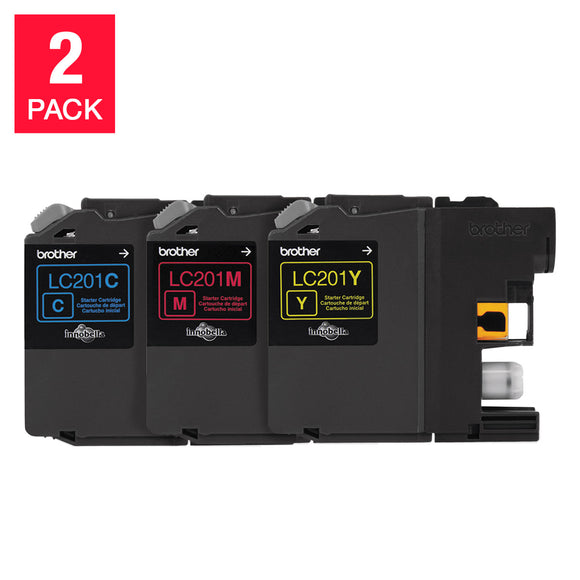 Brother LC2013PKS Innobella Ink Cartridges, C/M/Y, 2-pack