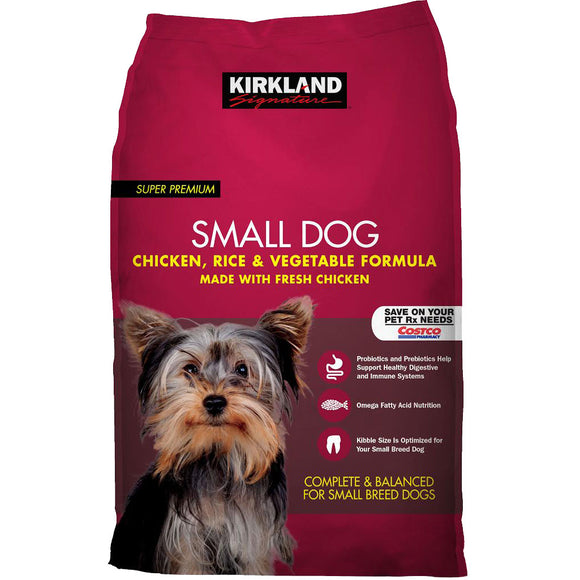 Kirkland Signature Small Formula Chicken & Vegetable Dog Food 20 lb.
