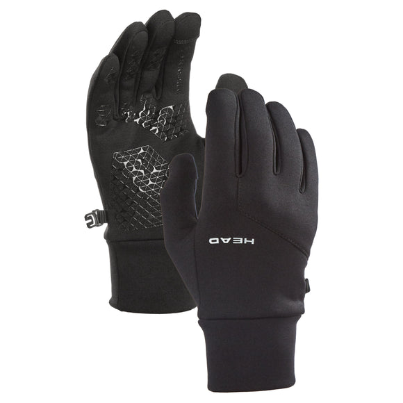 HEAD Men's Ultrafit Touchscreen Running Gloves, Black