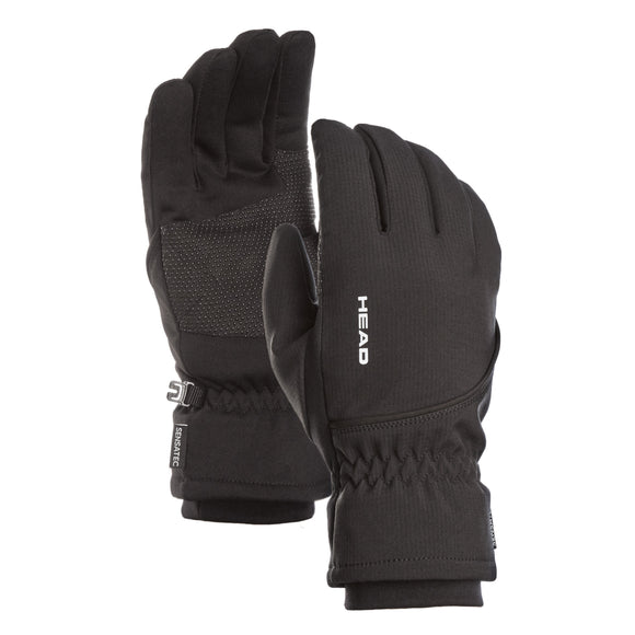 HEAD Men's Waterproof Hybrid Gloves - Black