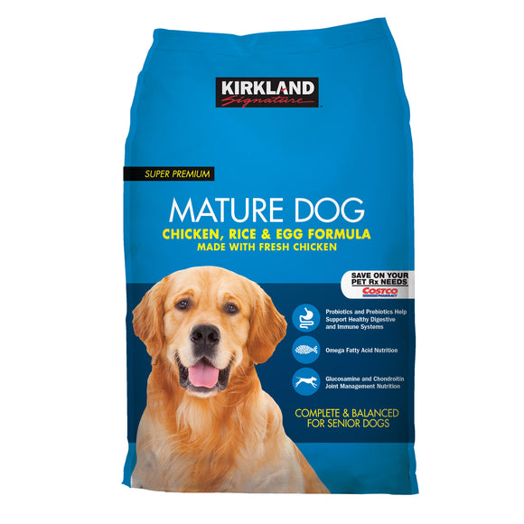 Kirkland Signature Mature Formula Chicken, Rice and Egg Dog Food 40 lb.