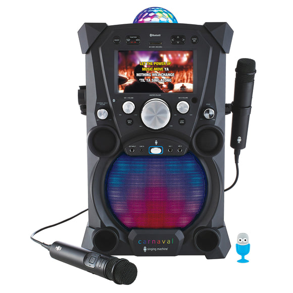 Singing Machine Carnaval Hi-Def Portable Karaoke System