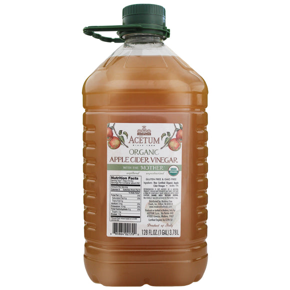 Acetum Organic Apple Cider Vinegar with the Mother, 128 fl. oz.