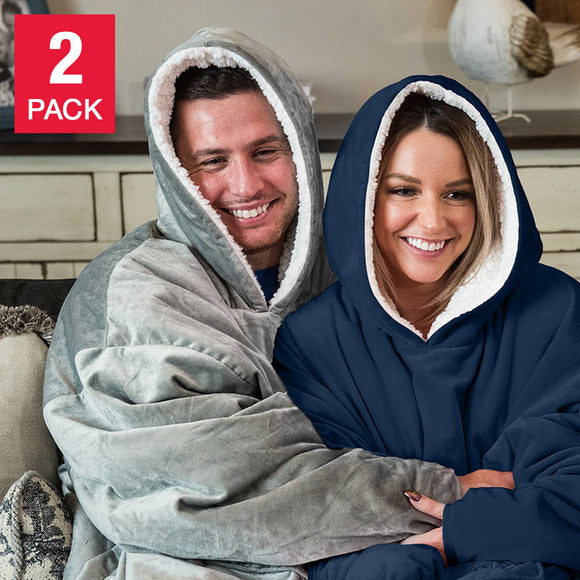 The Comfy Hooded Blanket/Sweatshirt, 2-pack