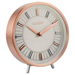 "Citizen 7"" Rose Gold-tone Table Top Analog Clock"