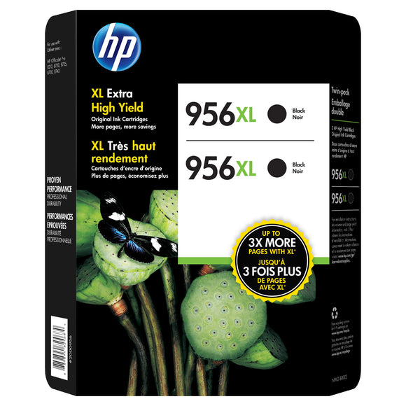 HP 956XL Extra High-Yield Ink Cartridge, Black, 2-count