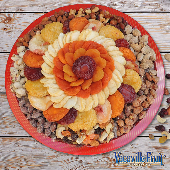 Vacaville Dried Fruit & Nut Tin Serving Tray 54 oz