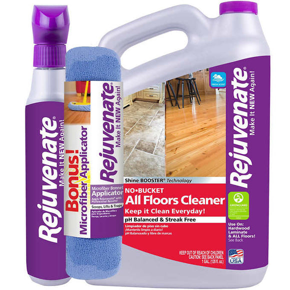 Rejuvenate Floor Cleaner 32 fl. oz. + 128 fl. oz. plus Bonus Applicator