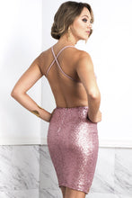 Load image into Gallery viewer, Luz Pink Straps Cocktail Dress - Short Dress - BACCIO Couture