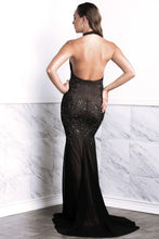 Load image into Gallery viewer, Wilma Black Lace Long Dress - BACCIO Couture