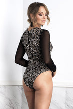 Load image into Gallery viewer, Leila Long Sleeves Coffee Body - Bodysuits - BACCIO Couture
