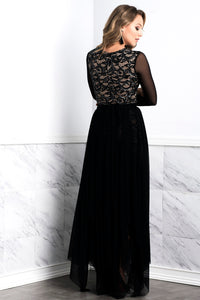 Leila Mesh Black Long Skirt - BACCIO Couture