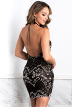 Load image into Gallery viewer, Victoria Black Short Dress - Cocktail Dress - BACCIO Couture