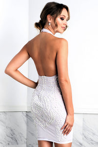 Wilma White Short Cocktail Dress - BACCIO Couture