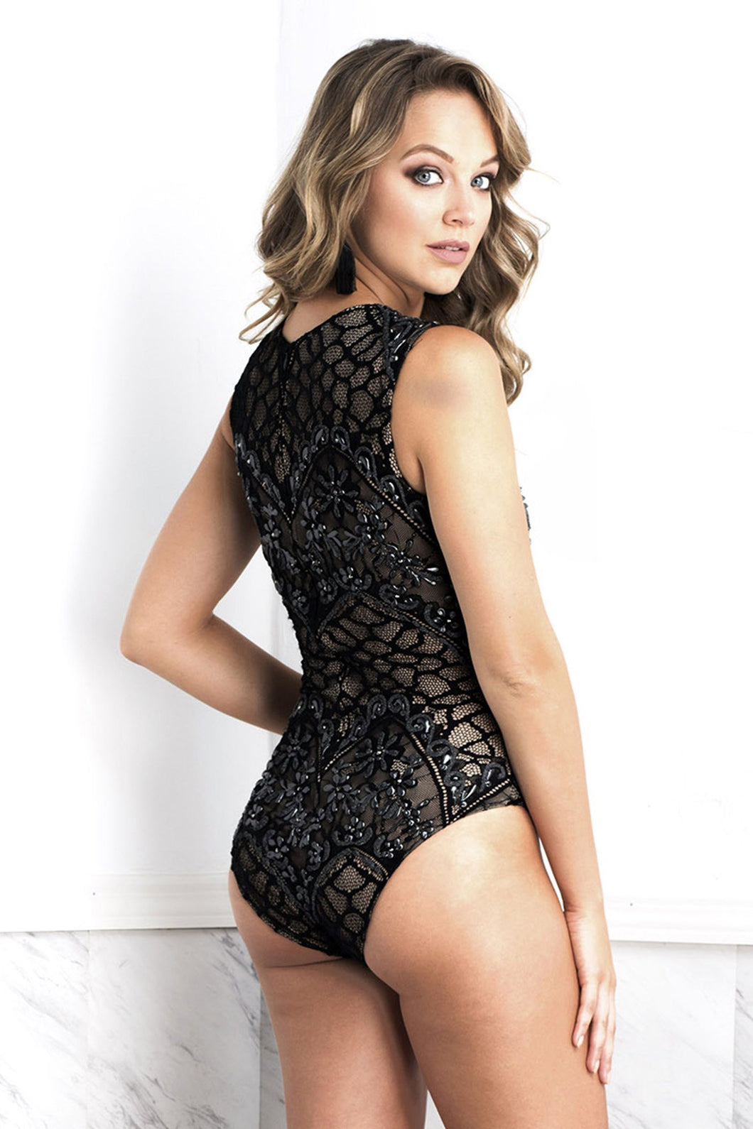 Isabel Black Body - Bodysuits - BACCIO Couture