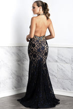 Load image into Gallery viewer, Liza Black Lace Long Dress - Gowns - BACCIO Couture