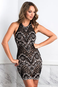 Victoria Black Short Dress - Cocktail Dress - BACCIO Couture