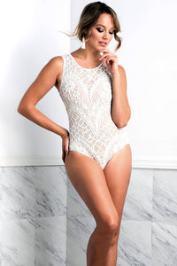 Isabel Painted White Body - Bodysuits - BACCIO Couture