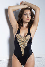 Load image into Gallery viewer, Alina Black One-Piece Swimsuit - BACCIO Couture