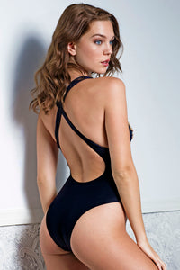 Alina Black One-Piece Swimsuit - BACCIO Couture