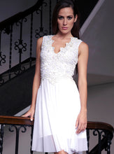 Load image into Gallery viewer, Ariel Painted White Cocktail Dress. Short Party Prom Dress - BACCIO Couture