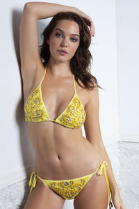 Briani Yellow Bikini and Top Set - BACCIO Couture