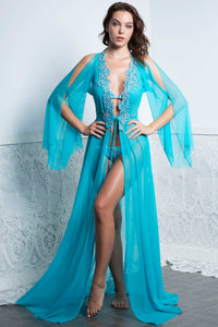 BRIANI Long Aqua Cover Up. Swimwear Beach Fashion - BACCIO Couture