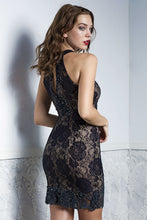 Load image into Gallery viewer, Briani Black Lace Cocktail Dress. Short Party & Prom Dress - BACCIO Couture
