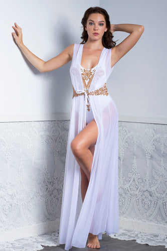 DANIELA White Sleeveless Cover Up Swimwear - Beachwear - BACCIO Couture
