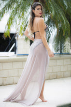 Load image into Gallery viewer, Daniela Platinum Cover up Long Skirt - BACCIO Couture