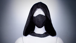 Black Mesh Hoodie Head Cover Washable and Reusable - BACCIO Couture